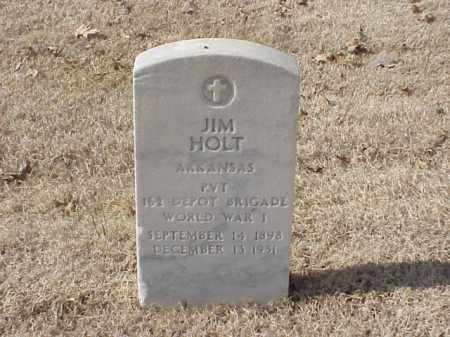 HOLT  (VETERAN WWI), JIM - Pulaski County, Arkansas | JIM HOLT  (VETERAN WWI) - Arkansas Gravestone Photos
