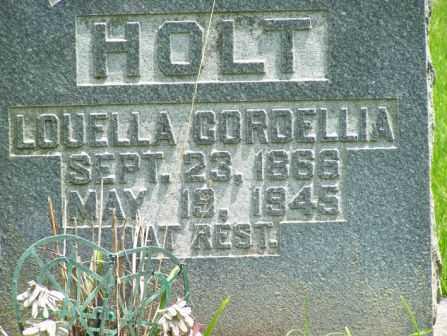 HOLT, LOUELLA CORDELIA - Pulaski County, Arkansas   LOUELLA CORDELIA HOLT - Arkansas Gravestone Photos