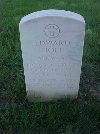 HOLT (VETERAN WWI), EDWARD - Pulaski County, Arkansas | EDWARD HOLT (VETERAN WWI) - Arkansas Gravestone Photos