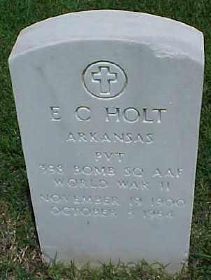 HOLT (VETERAN WWII), E C - Pulaski County, Arkansas | E C HOLT (VETERAN WWII) - Arkansas Gravestone Photos