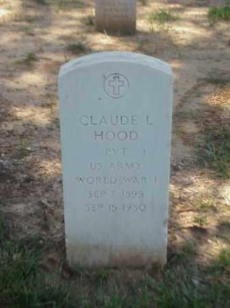 HOOD (VETERAN WWI), CLAUDE L - Pulaski County, Arkansas   CLAUDE L HOOD (VETERAN WWI) - Arkansas Gravestone Photos
