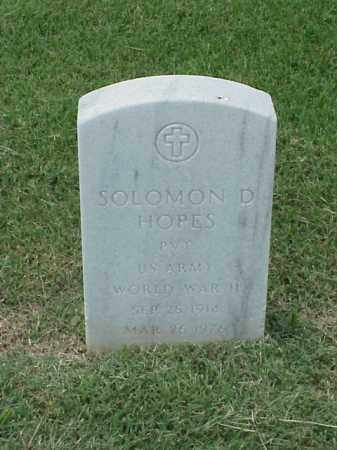 HOPES (VETERAN WWII), SOLOMON D - Pulaski County, Arkansas | SOLOMON D HOPES (VETERAN WWII) - Arkansas Gravestone Photos