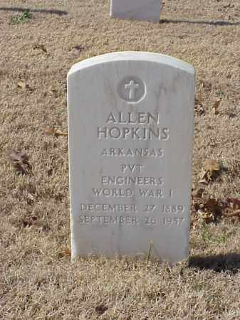 HOPKINS  (VETERAN WWI), ALLEN - Pulaski County, Arkansas | ALLEN HOPKINS  (VETERAN WWI) - Arkansas Gravestone Photos