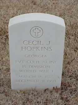 HOPKINS  (VETERAN WWI), CECIL J - Pulaski County, Arkansas | CECIL J HOPKINS  (VETERAN WWI) - Arkansas Gravestone Photos