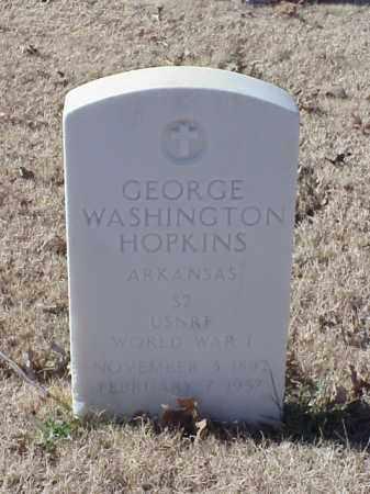 HOPKINS  (VETERAN WWI), GEORGE WASHINGTON - Pulaski County, Arkansas | GEORGE WASHINGTON HOPKINS  (VETERAN WWI) - Arkansas Gravestone Photos