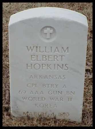 HOPKINS (VETERAN 2 WARS), WILLIAM ELBERT - Pulaski County, Arkansas | WILLIAM ELBERT HOPKINS (VETERAN 2 WARS) - Arkansas Gravestone Photos