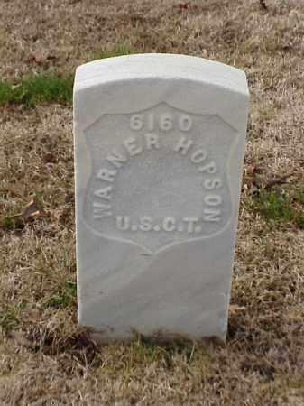 HOPSON  (VETERAN UNION), WARNER - Pulaski County, Arkansas | WARNER HOPSON  (VETERAN UNION) - Arkansas Gravestone Photos