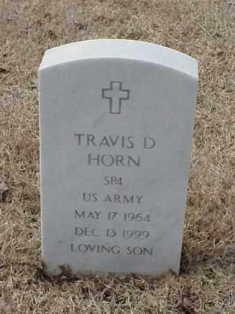 HORN  (VETERAN ), TRAVIS D - Pulaski County, Arkansas | TRAVIS D HORN  (VETERAN ) - Arkansas Gravestone Photos