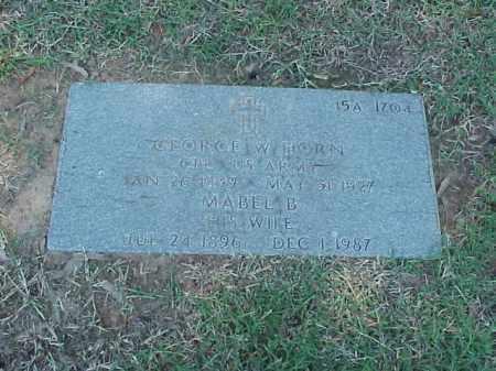 HORN (VETERAN WWI), GEORGE W - Pulaski County, Arkansas   GEORGE W HORN (VETERAN WWI) - Arkansas Gravestone Photos