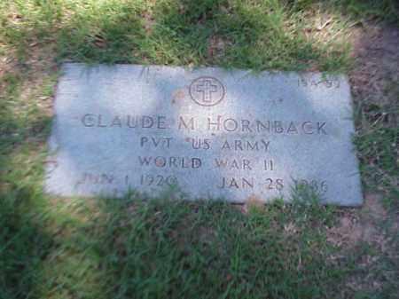 HORNBACK (VETERAN WWII), CLAUDE M - Pulaski County, Arkansas | CLAUDE M HORNBACK (VETERAN WWII) - Arkansas Gravestone Photos