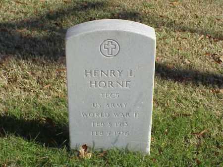 HORNE  (VETERAN WWII), HENRY L - Pulaski County, Arkansas | HENRY L HORNE  (VETERAN WWII) - Arkansas Gravestone Photos