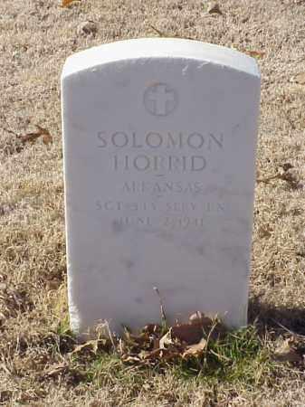 HORRID  (VETERAN WWI), SOLOMON - Pulaski County, Arkansas | SOLOMON HORRID  (VETERAN WWI) - Arkansas Gravestone Photos