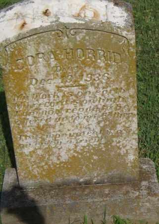 HORRID, CORA - Pulaski County, Arkansas   CORA HORRID - Arkansas Gravestone Photos