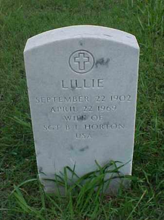 HORTON, LILLIE - Pulaski County, Arkansas   LILLIE HORTON - Arkansas Gravestone Photos