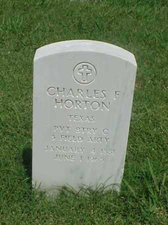 HORTON (VETERAN), CHARLES F - Pulaski County, Arkansas   CHARLES F HORTON (VETERAN) - Arkansas Gravestone Photos