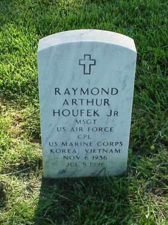 HOUFEK, JR (VETERAN 2 WARS), RAYMOND ARTHUR - Pulaski County, Arkansas | RAYMOND ARTHUR HOUFEK, JR (VETERAN 2 WARS) - Arkansas Gravestone Photos