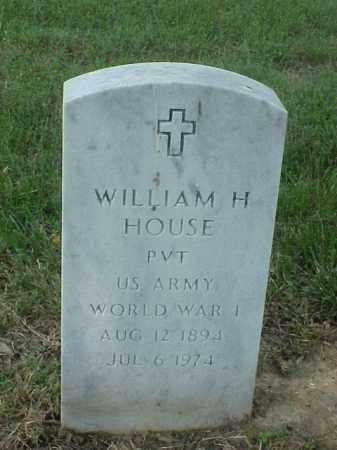 HOUSE (VETERAN WWI), WILLIAM H - Pulaski County, Arkansas | WILLIAM H HOUSE (VETERAN WWI) - Arkansas Gravestone Photos