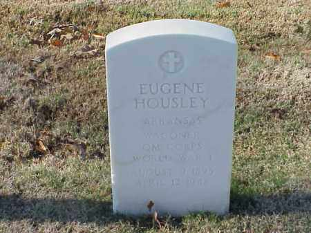 HOUSLEY  (VETERAN WWI), EUGENE - Pulaski County, Arkansas   EUGENE HOUSLEY  (VETERAN WWI) - Arkansas Gravestone Photos