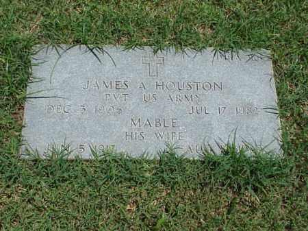 HOUSTON (VETERAN WWII), JAMES A - Pulaski County, Arkansas   JAMES A HOUSTON (VETERAN WWII) - Arkansas Gravestone Photos