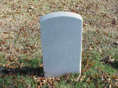 HOWARD  (VETERAN WWII), CLAYTON D - Pulaski County, Arkansas | CLAYTON D HOWARD  (VETERAN WWII) - Arkansas Gravestone Photos