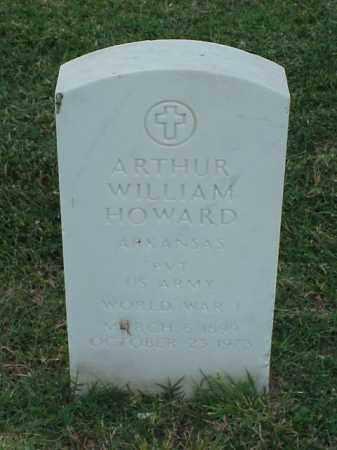 HOWARD (VETERAN WWI), ARTHUR WILLIAM - Pulaski County, Arkansas | ARTHUR WILLIAM HOWARD (VETERAN WWI) - Arkansas Gravestone Photos
