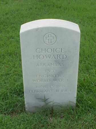 HOWARD (VETERAN WWI), CHOICE - Pulaski County, Arkansas | CHOICE HOWARD (VETERAN WWI) - Arkansas Gravestone Photos