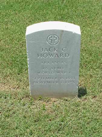 HOWARD (VETERAN WWI), JACK C - Pulaski County, Arkansas | JACK C HOWARD (VETERAN WWI) - Arkansas Gravestone Photos