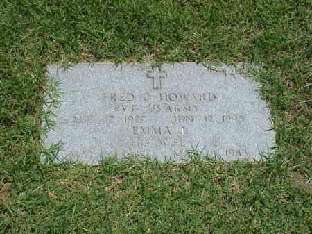 HOWARD (VETERAN WWII), FRED G - Pulaski County, Arkansas   FRED G HOWARD (VETERAN WWII) - Arkansas Gravestone Photos