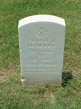 HOWARD (VETERAN WWII), FRANK B - Pulaski County, Arkansas   FRANK B HOWARD (VETERAN WWII) - Arkansas Gravestone Photos