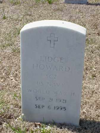 HOWARD (VETERAN WWII), LIDGE - Pulaski County, Arkansas | LIDGE HOWARD (VETERAN WWII) - Arkansas Gravestone Photos