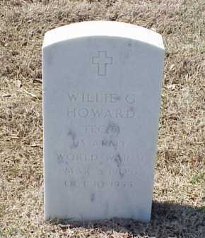 HOWARD (VETERAN WWII), WILLIE G - Pulaski County, Arkansas | WILLIE G HOWARD (VETERAN WWII) - Arkansas Gravestone Photos