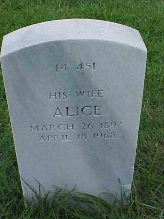 HOWELL, ALICE - Pulaski County, Arkansas | ALICE HOWELL - Arkansas Gravestone Photos