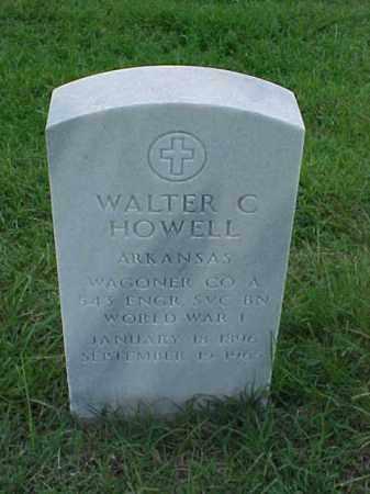 HOWELL (VETERAN WWI), WALTER C - Pulaski County, Arkansas   WALTER C HOWELL (VETERAN WWI) - Arkansas Gravestone Photos
