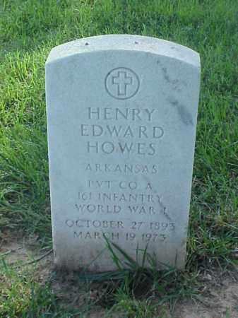 HOWES (VETERAN WWI), HENRY EDWARD - Pulaski County, Arkansas   HENRY EDWARD HOWES (VETERAN WWI) - Arkansas Gravestone Photos