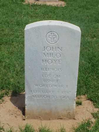 HOYE (VETERAN WWI), JOHN MILO - Pulaski County, Arkansas   JOHN MILO HOYE (VETERAN WWI) - Arkansas Gravestone Photos