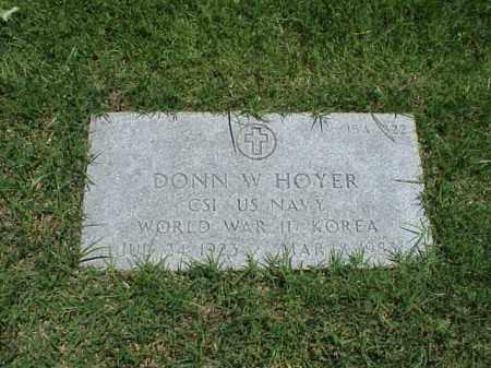 HOYER (VETERAN 2 WARS), DONN W - Pulaski County, Arkansas | DONN W HOYER (VETERAN 2 WARS) - Arkansas Gravestone Photos