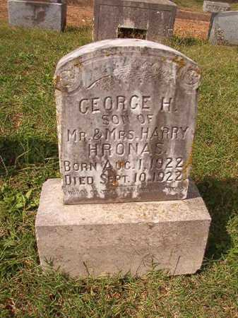 HRONAS, GEORGE H - Pulaski County, Arkansas | GEORGE H HRONAS - Arkansas Gravestone Photos