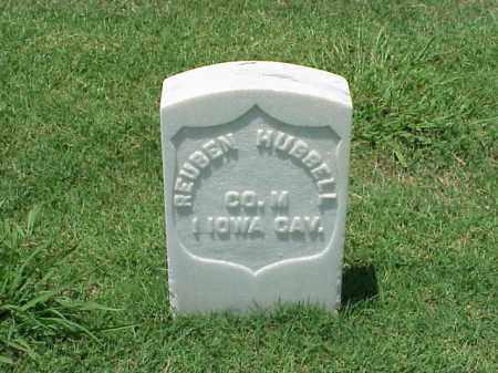 HUBBELL (VETERAN UNION), REUBEN - Pulaski County, Arkansas   REUBEN HUBBELL (VETERAN UNION) - Arkansas Gravestone Photos