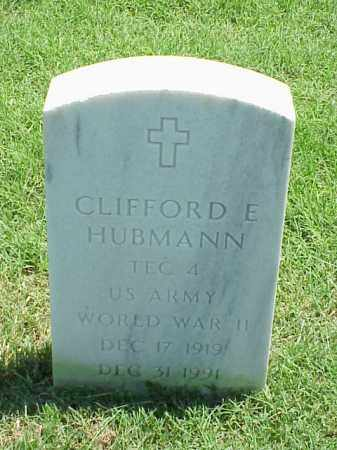 HUBMANN (VETERAN WWII), CLIFFORD E - Pulaski County, Arkansas   CLIFFORD E HUBMANN (VETERAN WWII) - Arkansas Gravestone Photos