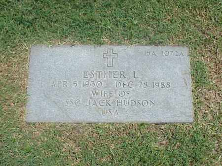 HUDSON, ESTHER L - Pulaski County, Arkansas | ESTHER L HUDSON - Arkansas Gravestone Photos
