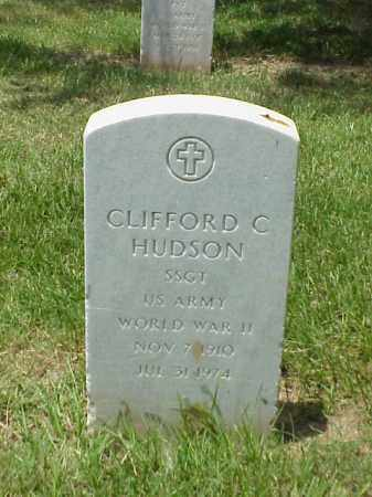 HUDSON (VETERAN WWII), CLIFFORD C - Pulaski County, Arkansas | CLIFFORD C HUDSON (VETERAN WWII) - Arkansas Gravestone Photos