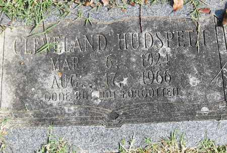 HUDSPETH, CLEVELAND - Pulaski County, Arkansas   CLEVELAND HUDSPETH - Arkansas Gravestone Photos