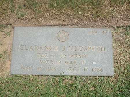 HUDSPETH (VETERAN WWII), CLARENCE J - Pulaski County, Arkansas | CLARENCE J HUDSPETH (VETERAN WWII) - Arkansas Gravestone Photos