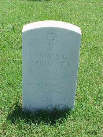 HUDSPETH (VETERAN WWII), JAMES L - Pulaski County, Arkansas | JAMES L HUDSPETH (VETERAN WWII) - Arkansas Gravestone Photos