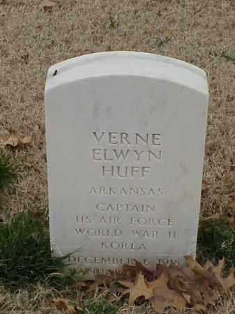 HUFF (VETERAN 2 WARS), VERNE ELWYN - Pulaski County, Arkansas | VERNE ELWYN HUFF (VETERAN 2 WARS) - Arkansas Gravestone Photos