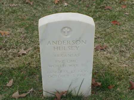 HULSEY  (VETERAN WWII), ANDERSON - Pulaski County, Arkansas   ANDERSON HULSEY  (VETERAN WWII) - Arkansas Gravestone Photos