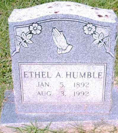HUMBLE, ETHEL - Pulaski County, Arkansas   ETHEL HUMBLE - Arkansas Gravestone Photos