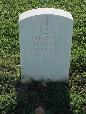 HUMPHREYS (VETERAN WWI), THOMAS HARRY - Pulaski County, Arkansas | THOMAS HARRY HUMPHREYS (VETERAN WWI) - Arkansas Gravestone Photos