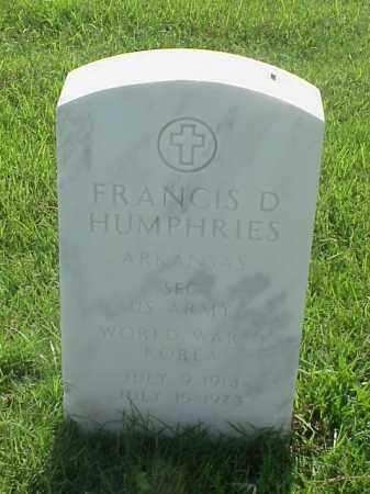 HUMPHRIES (VETERAN 2 WARS), FRANCIS D - Pulaski County, Arkansas   FRANCIS D HUMPHRIES (VETERAN 2 WARS) - Arkansas Gravestone Photos