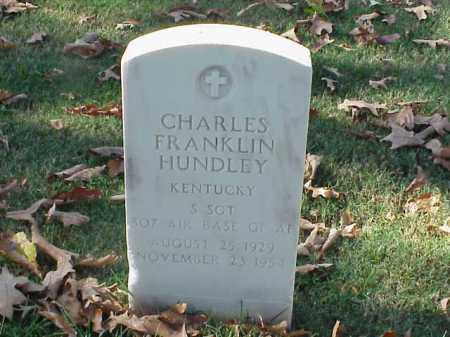 HUNDLEY  (VETERAN KOR), CHARLES FRANKLIN - Pulaski County, Arkansas | CHARLES FRANKLIN HUNDLEY  (VETERAN KOR) - Arkansas Gravestone Photos